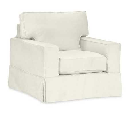 PB Comfort Square Arm Slipcovered Armchair - Pottery Barn
