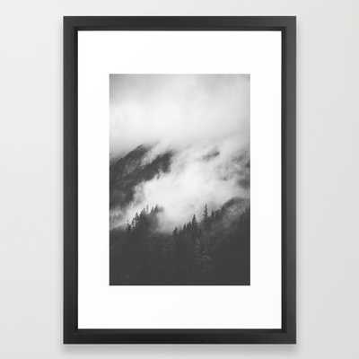 "PNW Storm II-FRAMED ART PRINT/VECTOR BLACK SMALL (15"" X 21"") - Society6"