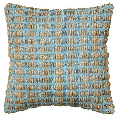 LNR Home Contemporary Blue 18-inch Throw Pillow 18''Sq/Insert included - Overstock