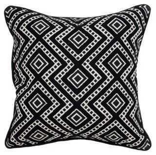Graphic Cotton Pillow - One Kings Lane
