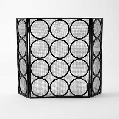 Rings Fireplace Screen - West Elm