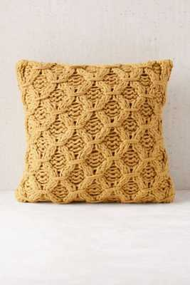 Chunky Cotton Knit Pillow - no insert - Urban Outfitters