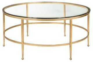 Evelyn Coffee Table, Gold - One Kings Lane
