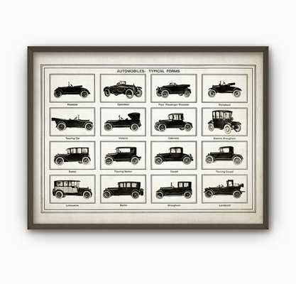 "Vintage Car Types Art Poster - 11"" x 14"" - Etsy"