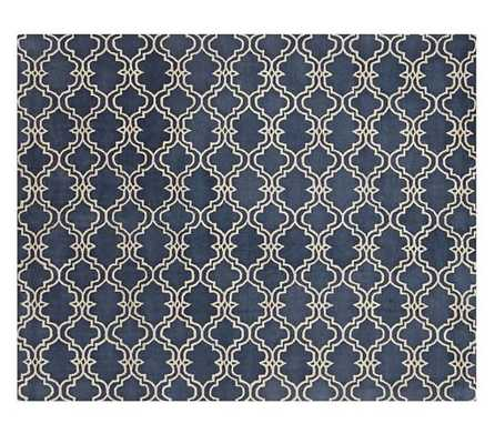 Scroll Tile Tufted Rug - Pottery Barn