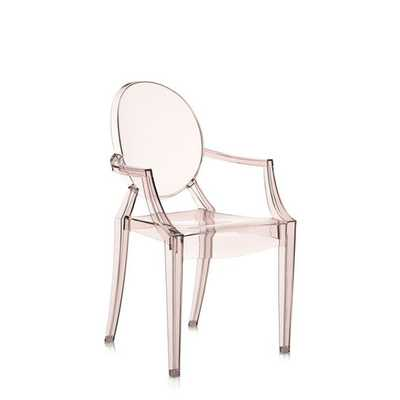 Louis Ghost Arm Chair - Transparent Sunset Orange - AllModern