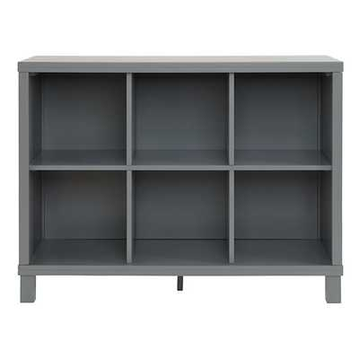 Grey 6 Compartment Cubic Bookcase - Land of Nod