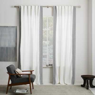 "Striped Weave Curtain-108"" - West Elm"