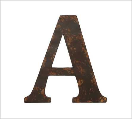Metal Letters - Pottery Barn