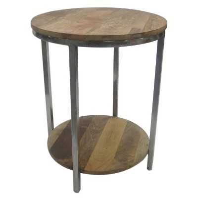 "Thresholdâ""¢ Round Metal Wood Top Accent Table - Target"