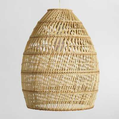 Basket Weave Bamboo Pendant Lamp - World Market/Cost Plus