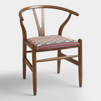 Donnan Wishbone Armchair with Upholstered Seat - World Market/Cost Plus