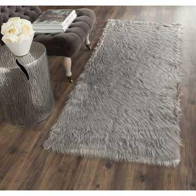 Faux Sheep Skin Gray Area Rug - AllModern