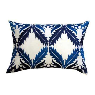 "Vibrant Vines Cotton Lumbar Pillow -14"" H x 20"" W x 4"" D-with insert - AllModern"