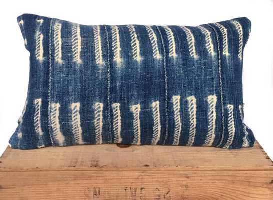 "African Mud Cloth Pillow - Indigo - 12""x20"" - Insert Sold Separately - Etsy"