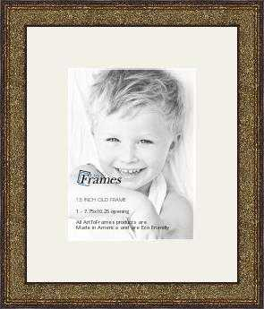 7.75x10.25 opening Old World Silver collage picture frame ( 14.25x16.75 Finished Size ) - openin - arttoframe.com
