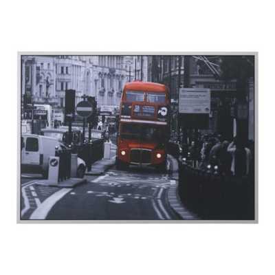 """VILSHULT Picture, London bus - 55"""" x 39 ¼ """"- Framed - Ikea"""