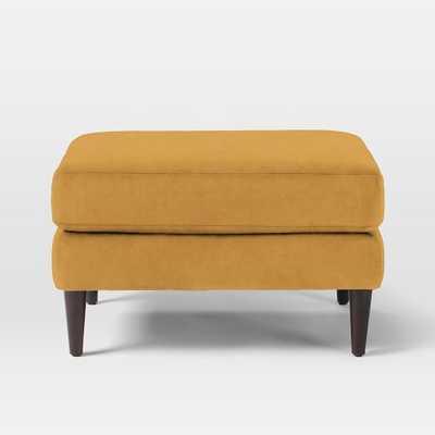 Everett Upholstered Ottoman - West Elm