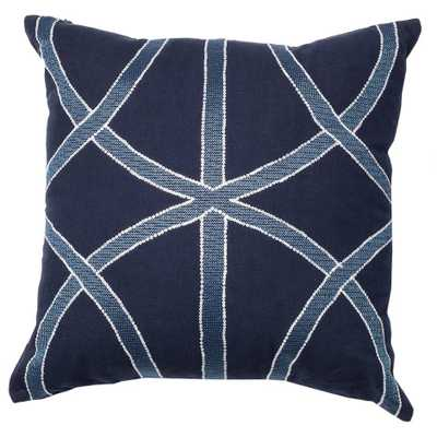 Embroidery Details Pillow Navy/Blue - Domino