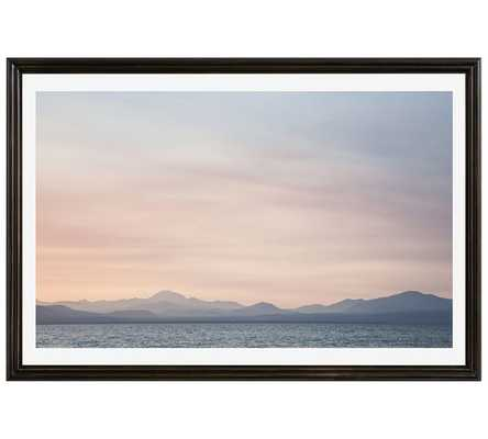 "LAKE ALMANOR BY JESSE LEAKE -  28 X 42"" - Framed - Pottery Barn"