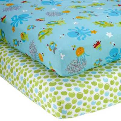 NoJo Little Bedding 2 Count Crib Sheet Set, Ocean Dreams - Amazon
