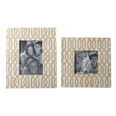 "Baina 2 Piece Picture Frame Set-5""x7""-Yellow - Wayfair"