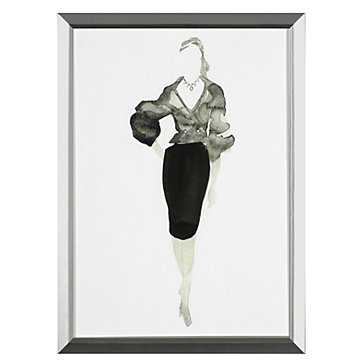Runway 3- 13.25''W x 18.25''H- Framed - Z Gallerie