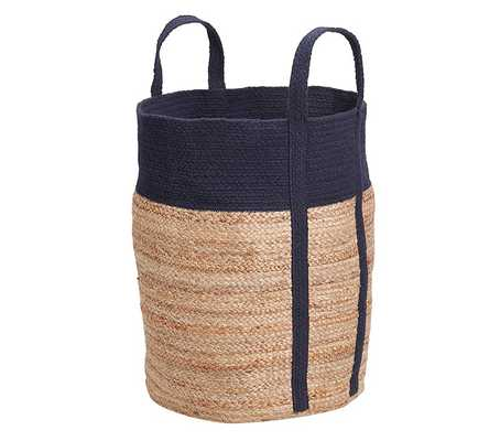 Navy Woven Jute Baskets - Pottery Barn Kids