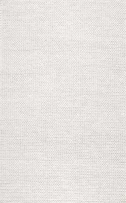"""Textures B01 Braided Rug - 8""""x10""""-Off White - Rugs USA"""