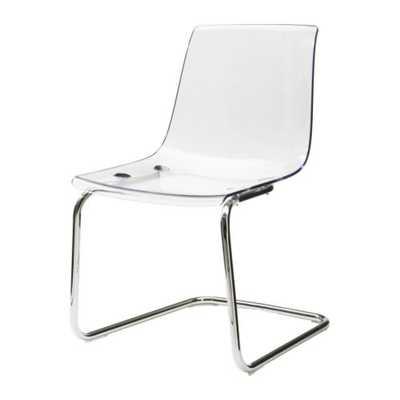 TOBIAS Chair, clear, chrome plated - Ikea