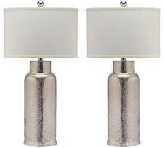 Kelli Table Lamp Set, Silver - One Kings Lane