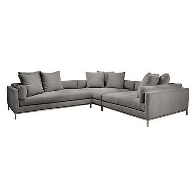 Ventura Sectional - Left Arm, Granite - Z Gallerie