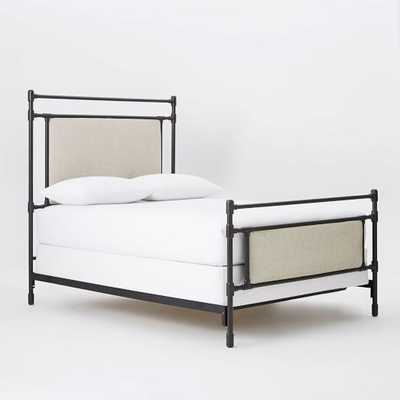 Rhodes Upholstered Metal Bed, Queen - West Elm