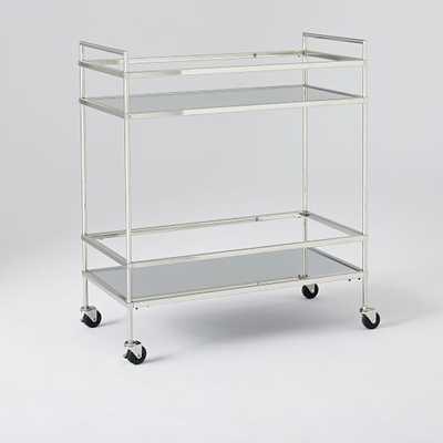 Terrace Bar Cart - Polished Nickel - West Elm