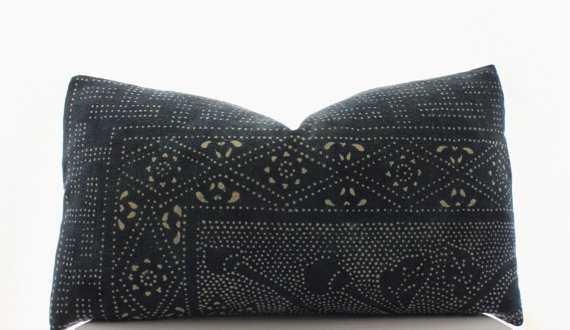 Chinese Indigo Batik Pillow - not included - Etsy