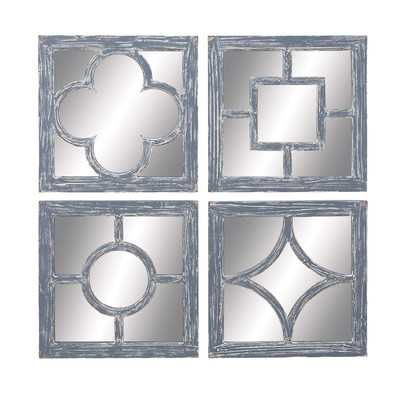 4 Piece Wall Mirror Set - Wayfair