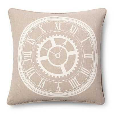 """Clock Throw Pillow - Linen (18x18) - The Industrial Shopâ""""¢-Insert - Target"""
