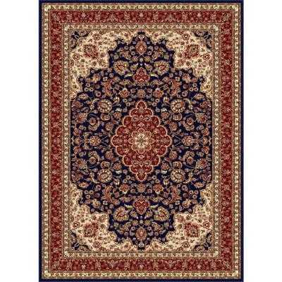 Sensation Navy Blue 7 ft. 10 in. x 10 ft. 6 in. Traditional Area Rug - Home Depot