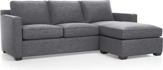 Davis 3-Seat Queen Sleeper Lounger-Ash - Crate and Barrel