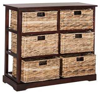 Willow 6-Basket Storage Chest - One Kings Lane