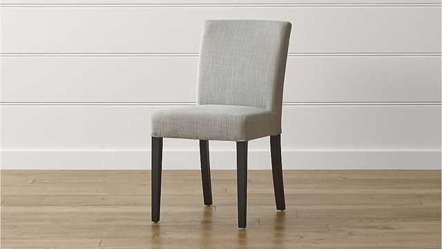 Lowe Pewter Upholstered Dining Chair - Crate and Barrel