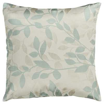 "Flowering Throw Pillowby Surya - Light Blue/18""sq., fill - Wayfair"