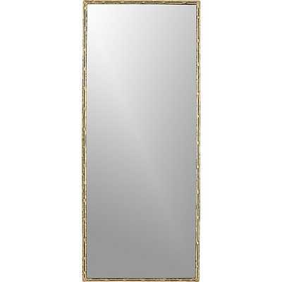 """Tork brass dripping 20""""x48"""" wall mirror - CB2"""