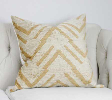 "Neutral Zig Zag - Throw Pillow - 20""Sq. - Insert Sold Separately - Etsy"