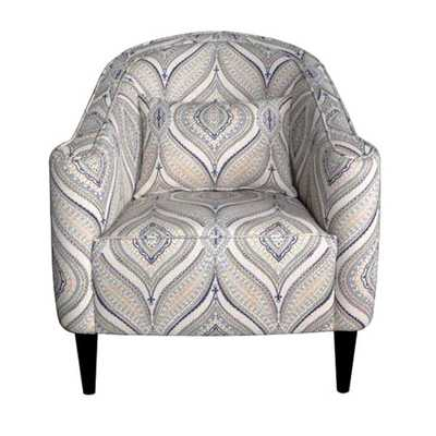 Slate Living Room Upholstered Accent Chair - Overstock