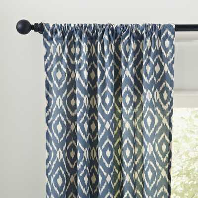 "Abha Single Curtain Panel -  Blue - 84"" L x 42"" W - Birch Lane"