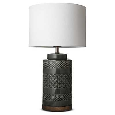 "Wood and Ceramic Table Lamp - Jade - Thresholdâ""¢ - Target"