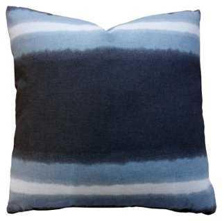 Heath 20x20 Cotton Pillow, Navy - One Kings Lane