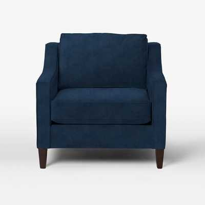 Paidge Chair - Performance Velvet, Ink Blue - West Elm