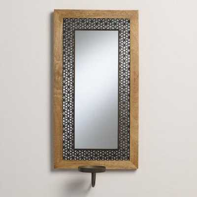 Wood and Metal Avery Mirror Sconce - World Market/Cost Plus
